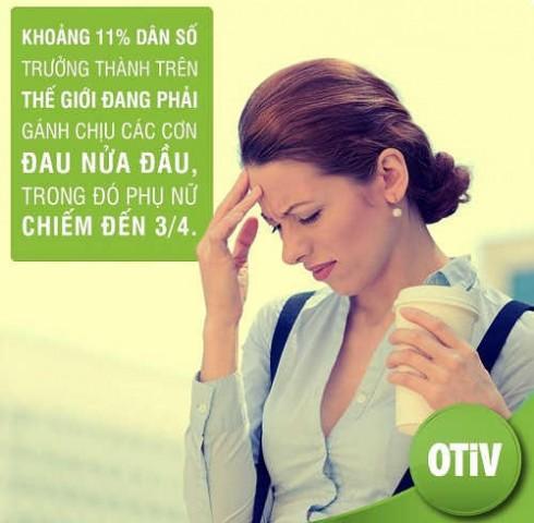 OTiV - Cải thiện đau đầu, đau nửa đầu hiệu quả