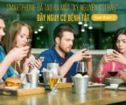 Cảnh báo nguy cơ thoái hóa đốt sống cổ khi dùng smartphone 2h/ngày